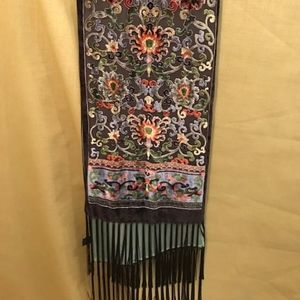 Beautiful Silk and Velvet (rayon) burnout scarf